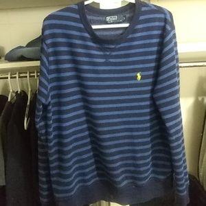 Polo Ralph Lauren sweater blue w dark blue lines